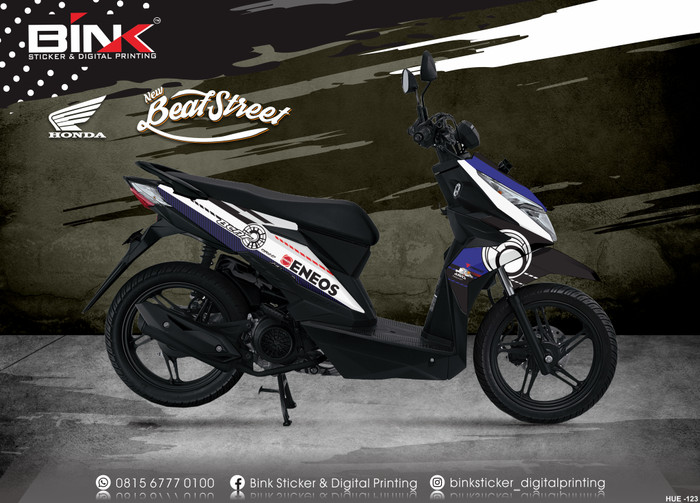 Jual Stiker Decal Honda Beat Street Full Body Beat Street 3 Kab Klaten Black Ink Sticker Tokopedia