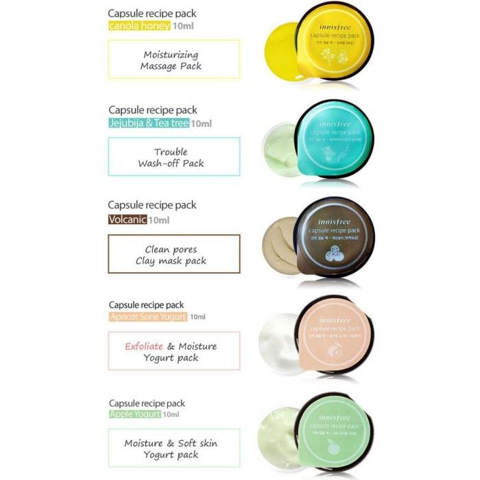 Masker Wajah Innisfree Capsule Recipe Pack