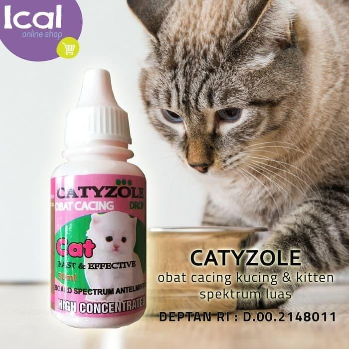 Obat Cacing CATYZOLE 30ml Untuk Kucing Dan Kitten