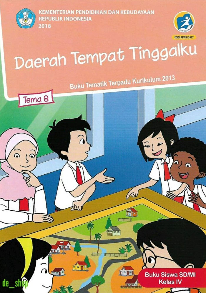 Buku Tematik Sd Kelas 4 Tema 8 -Daerah Tempat Tinggalku-