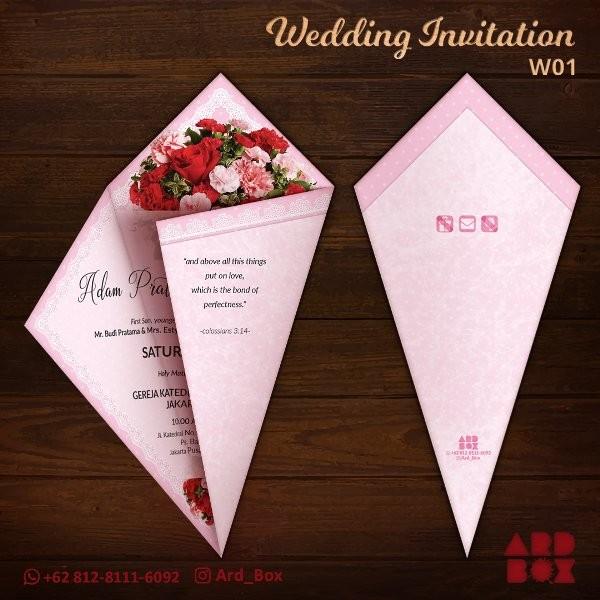 Jual Kartu Undangan Pernikahan Kreatif Unik Murah Wedding