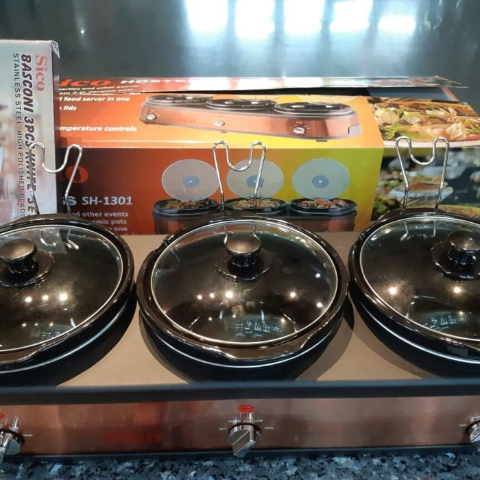 Foto Produk Hostess SICO Hamada Slow Cooker dan Food Warmer 2in1 dari kaliskukis