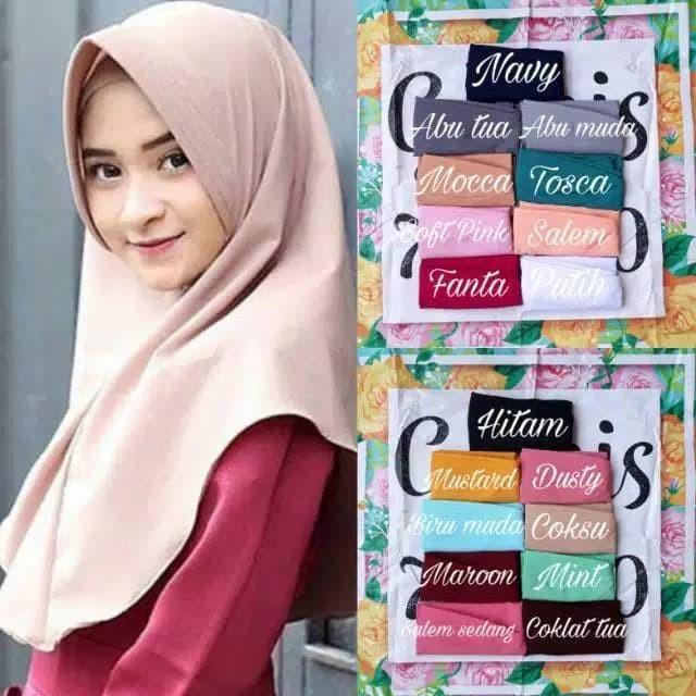 Foto Produk Khimar pet antem jilbab simple kerudung pet hijab instant wolfis insta - Hitam dari Mursyid 0lsh0p