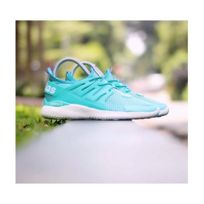 Sepatu Sneakers Adidas Alphabounce Tubular Warna tosca Putih