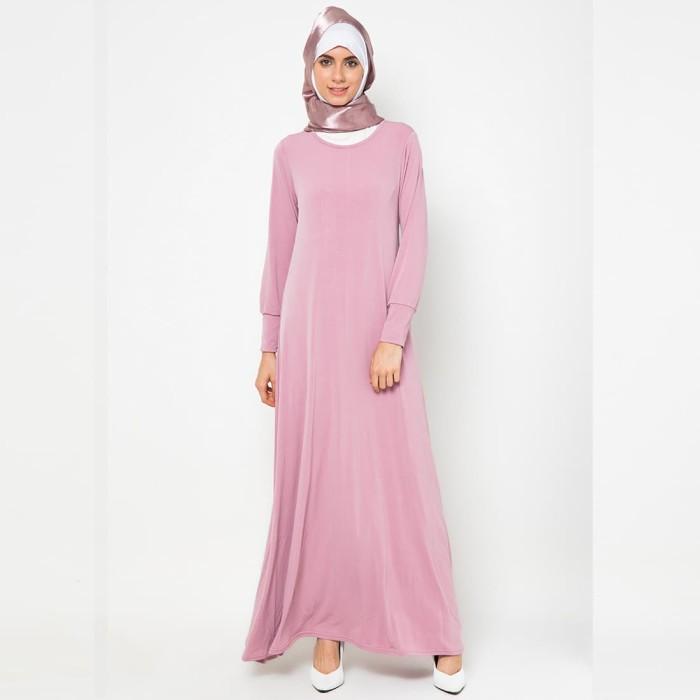 JV Hasanah Alia Basic Dress - Pink
