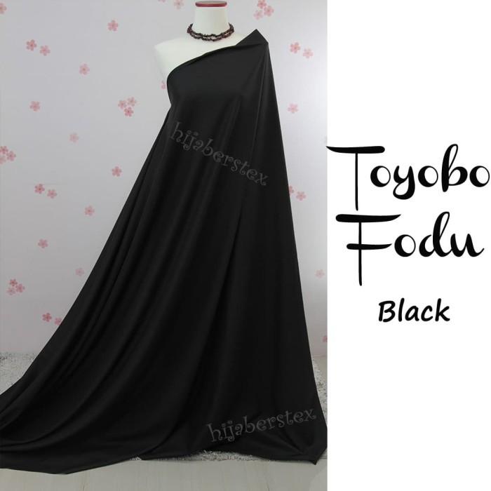 Foto Produk HijabersTex 1/2 Meter Kain TOYOBO FODU Black dari Pondok Hijabers