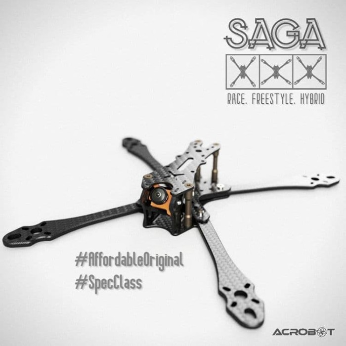 Foto Produk ACROBOT SAGA - Arm Brace - FPV Drone Racing Carbon Frame dari DooFPV