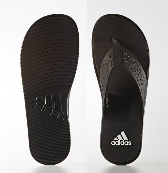 f06cf05d9ee940 Jual Sandal Adidas BEACHCLOUD CLOUDFOAM THONG SANDALS Black Original ...