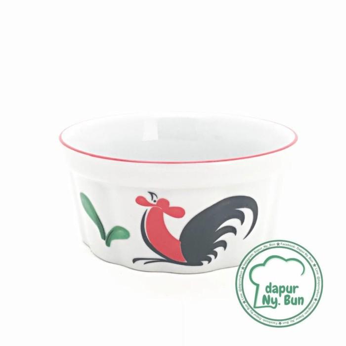 Murah Mangkok Ramekin Ayam Jago Seri 2 / Ukuran 10,5cm / Mangkok Cup