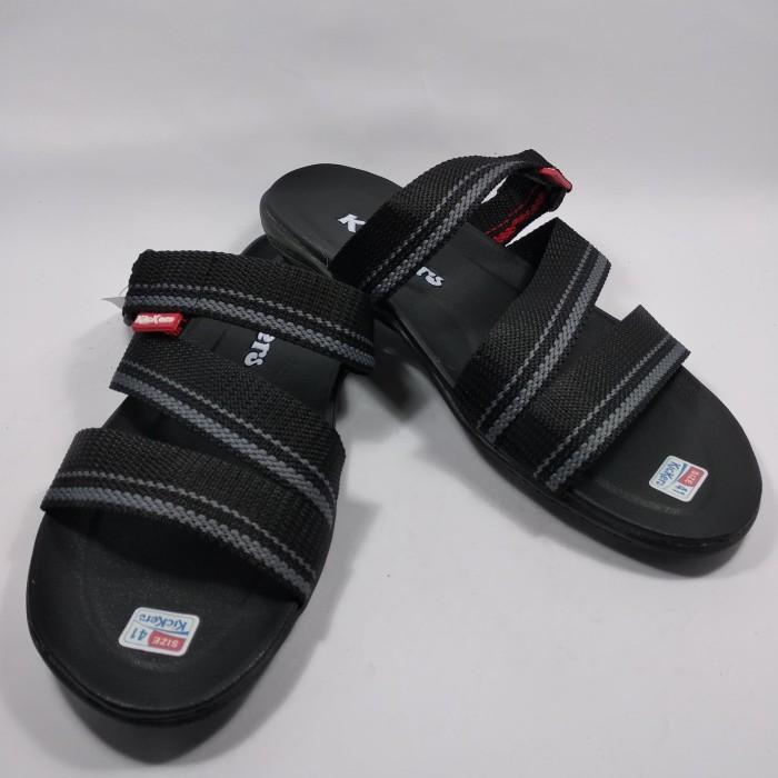 Foto Produk SANDAL KASUAL CASUAL SLOP SLIP ON SENDAL FLAT KICKERS PRIA - Hitam, 39 dari toko shae