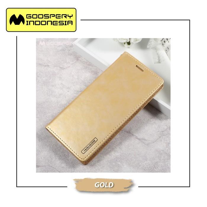 harga Goospery samsung galaxy s10 lite g970 blue moon flip case - gold Tokopedia.com