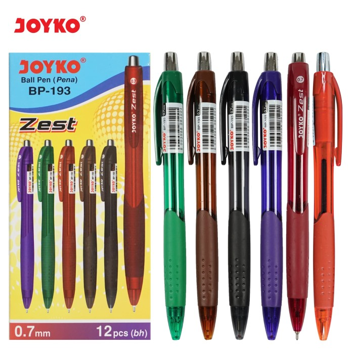 Ball Pen / Pulpen / Pena Joyko BP-193 / Zest / 0.7 mm / 1 BOX 12 PCS