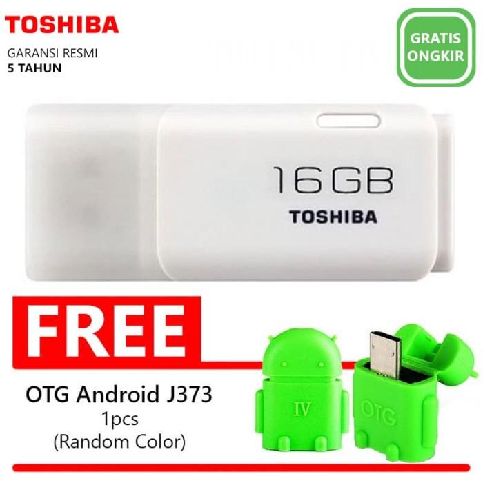harga Flashdisk toshiba hayabusa 16gb-w193+bonus otg micro usb android(j373)