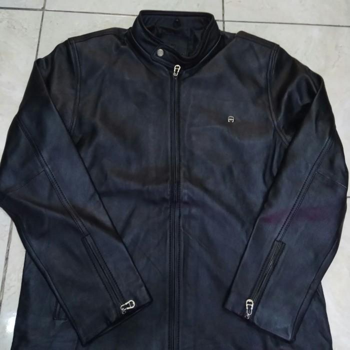 Jual jaket kulit asli pria original by Aigner - Hitam, L - - athharrizky50 | Tokopedia
