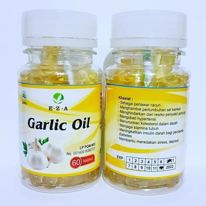 Jual Garlic Oil EZA Bawang Putih Isi 60 Kapsul Untuk ...
