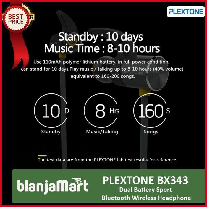 Jual PLEXTONE BX343 Bluetooth Wireless Sport Water Proof Earphone With Mic  - DKI Jakarta - MATRIX TECHNO | Tokopedia
