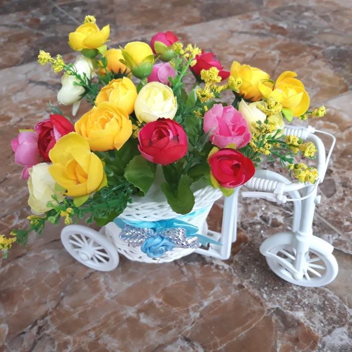 Jual Sepeda Hias- Rose Artifisial- Bunga plastik- Hiasan Meja ... c81acaf09c