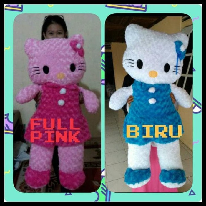 Jual Termurah Boneka Hello Kitty Pink Jumbo Besar - Hijau Muda ... d1096c447c