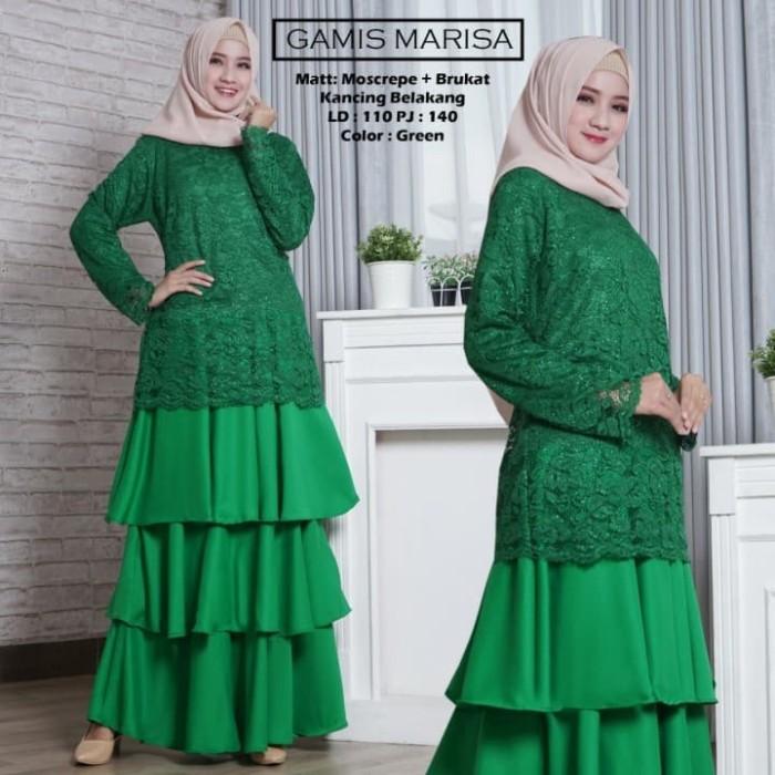 Jual Gamis Brokat Lapis Furing Dress Muslim Gamis Pesta Warna Hijau Dki Jakarta Hikmahherbal Tokopedia