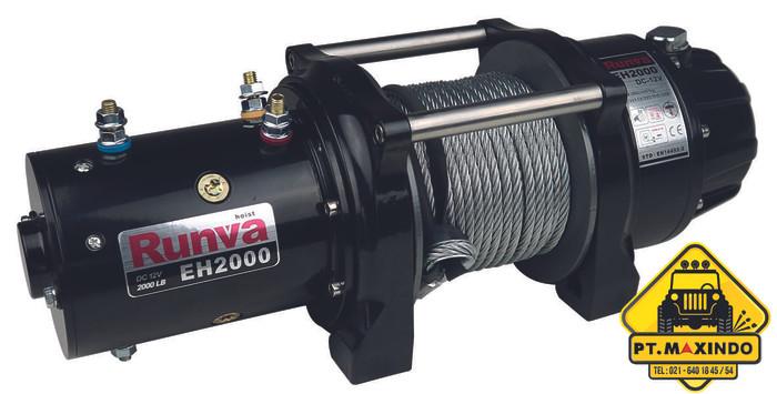 harga Runva dc electric winch eh-2000 12v (907 kilogram) untuk angkat beban Tokopedia.com