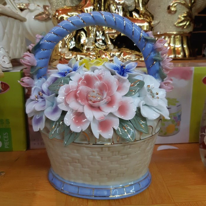 Jual Pajangan Meja Pajangan Bunga Vas Bunga Kota Jambi Keramikimporchina Tokopedia