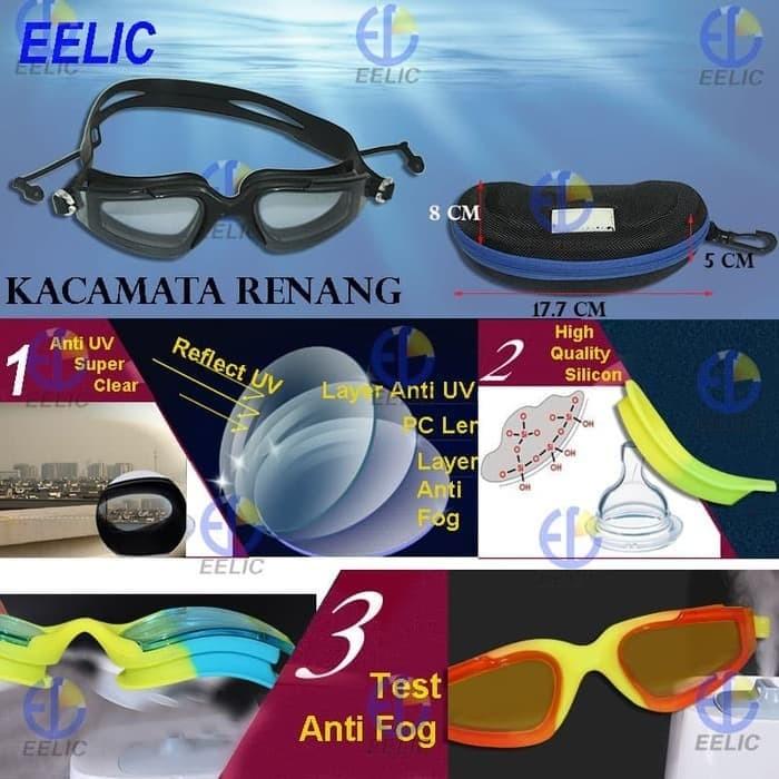 EELIC KAR 780 kuning Kacamata Renang Dewasa Biru Muda