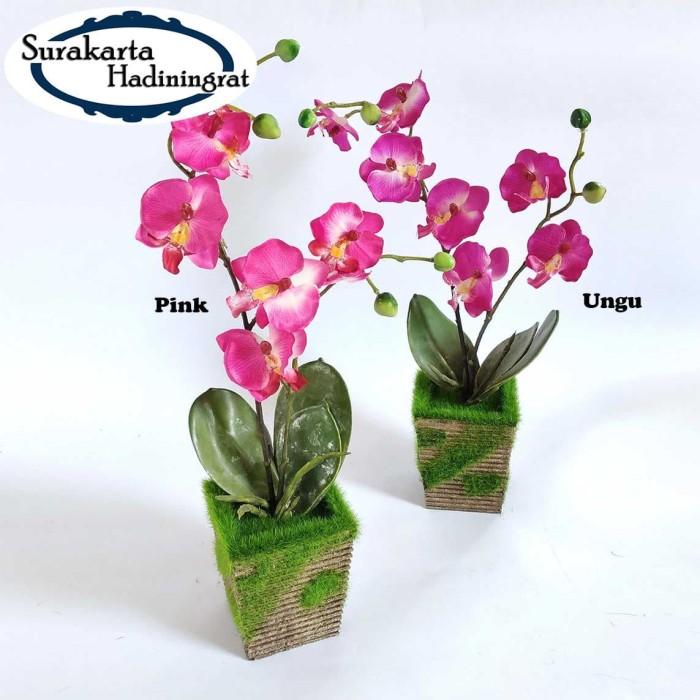 Dekorasi Meja Pot Bunga Kayu Vas Bunga Anggrek Artificial Flower VB34 - Ungu 7083cb4dcf