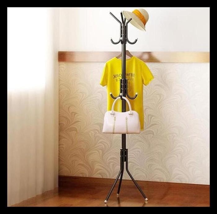 Multifunction Standing Hanger Gantungan Tiang Berdiri Baju   Tas ... ca27d64989