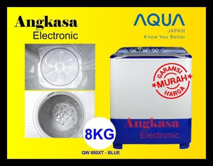 MESIN CUCI AQUA 8 KG - QW-880XT / QW 880 XT HIJAB SERIES (2 TABUNG)