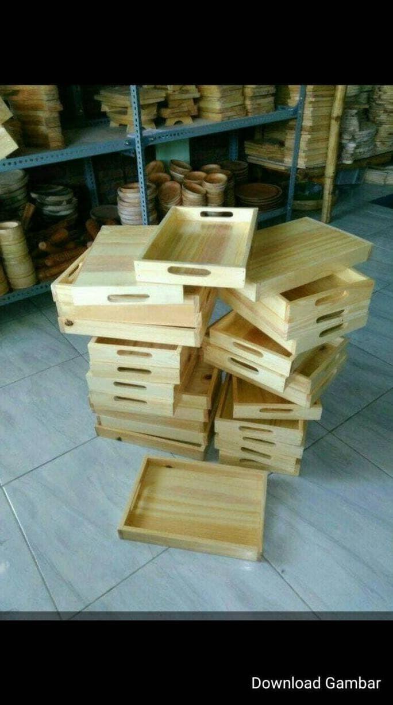 Jual New Baki Kayu Nampan Kayu Tray Kayu Pinus 35 X 25 Cm Pegangan Kota Malang Jin Kyon