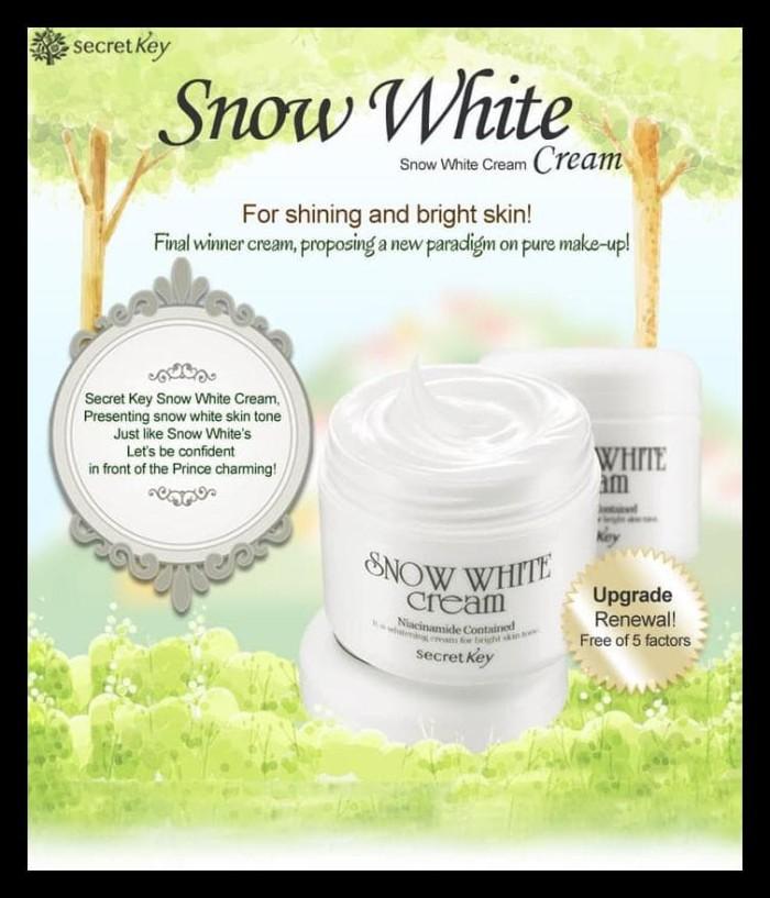 TERMURAH Secret Key 50g Snow White Cream / Krim Pemutih Wajah /