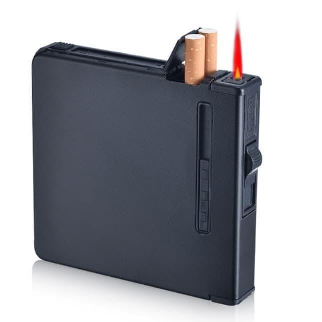 Jual Kotak Rokok 20 Slot dengan Korek Gas | Cigarette Box ...