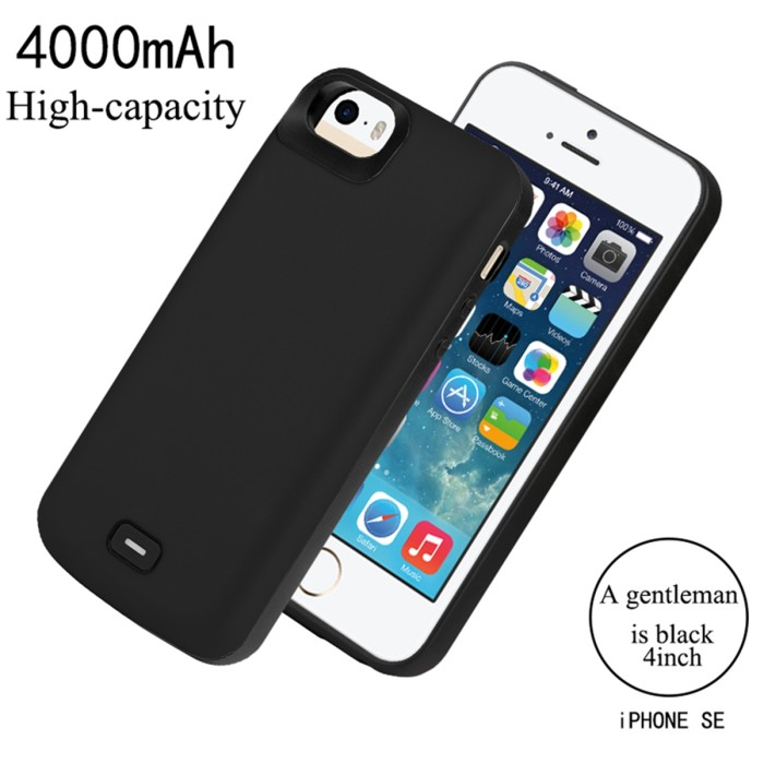 2c2d2eacf0a Jual CASEWIN Battery Charger Case For iPhone SE 5SE 5 5S Case ...