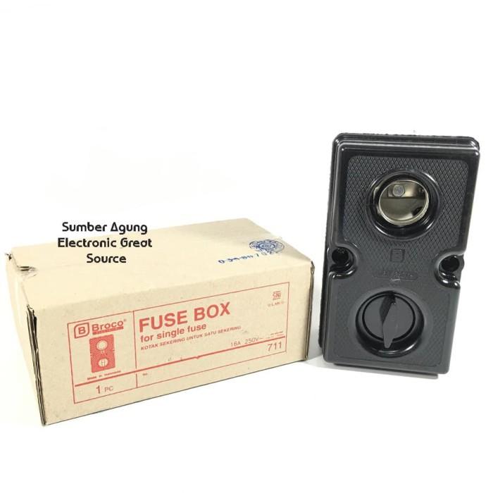 jual fuse box broco 711 hitam tebal kotak tempat sekirng sekering single -  kab. sragen - electronic great source   tokopedia  tokopedia