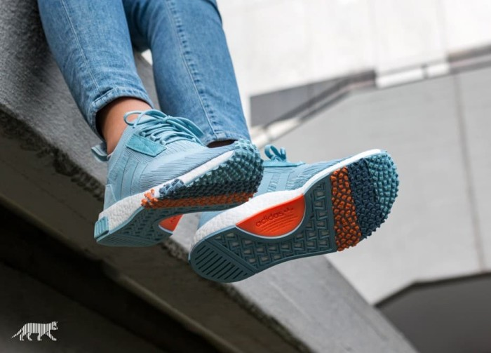46fbe376a9f25 Jual Sepatu adidas NMD Racer PK W Grey Blue Tint White ...