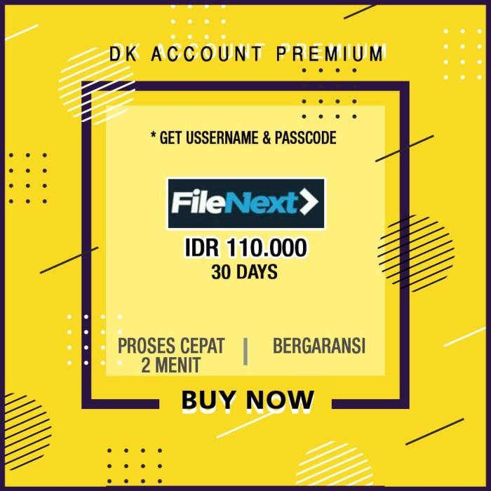 Jual Jual Account Premium FileNext, Keep2Share, Mega, Nitroflare, Dsb -  Kab  Sidoarjo - Voucher Account Premium | Tokopedia