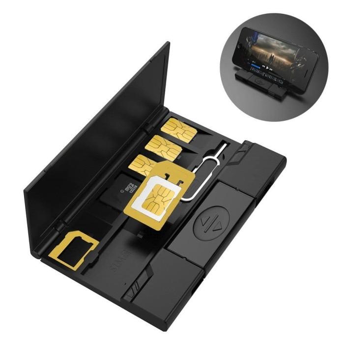 harga 9 in 1 sim card pin tf nano card box card reader storage Tokopedia.com