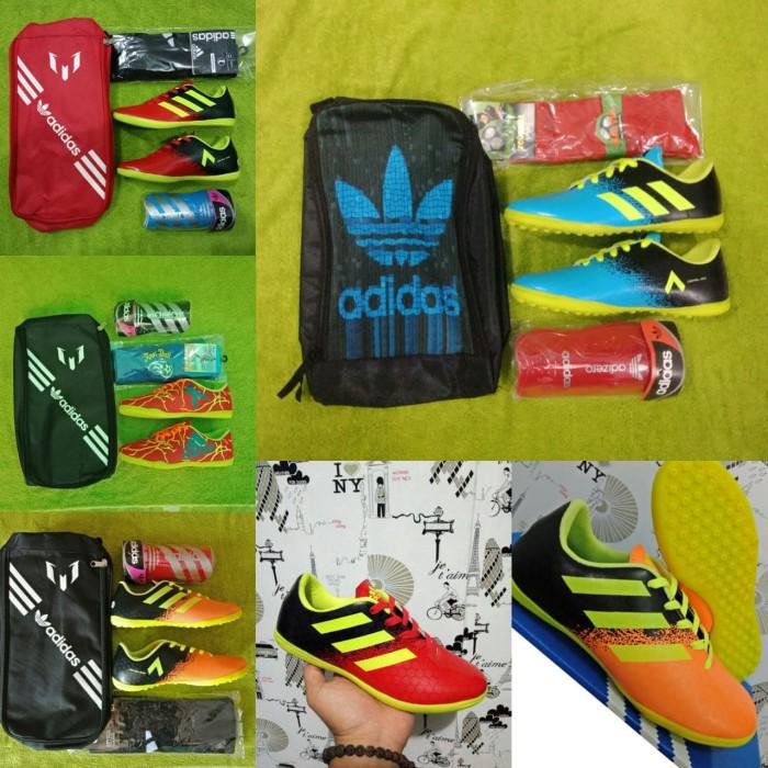 harga Paket komplit sepatu futsal anak adidas grad ori termurah Tokopedia.com