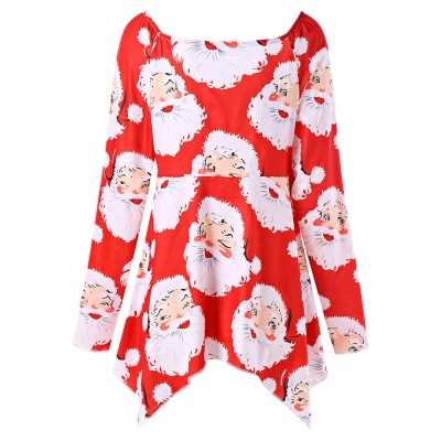 photograph about Santa Claus Printable Pictures referred to as Jual As well as Sizing Santa Claus Print Xmas T-blouse - Kab. Pemalang - BELI DARI CHINA Tokopedia