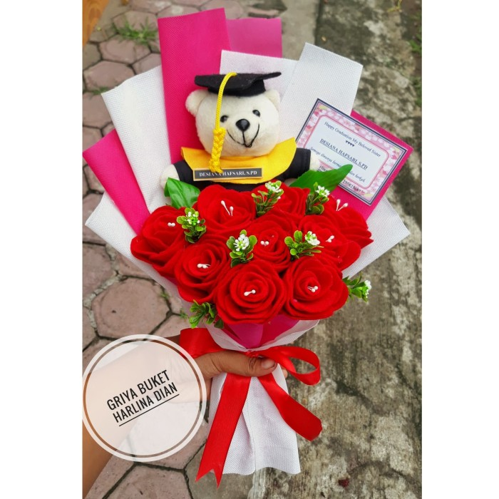 Jual Buket Bunga Cantik Murah Untuk Kado Wisuda Anniversarry