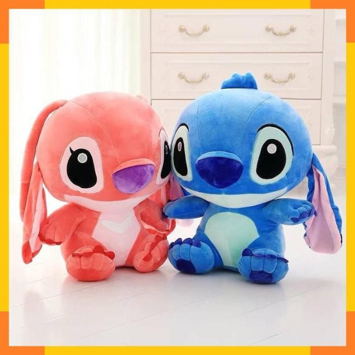 Gambar Stitch Biru Dan Pink - Ginting Gambar