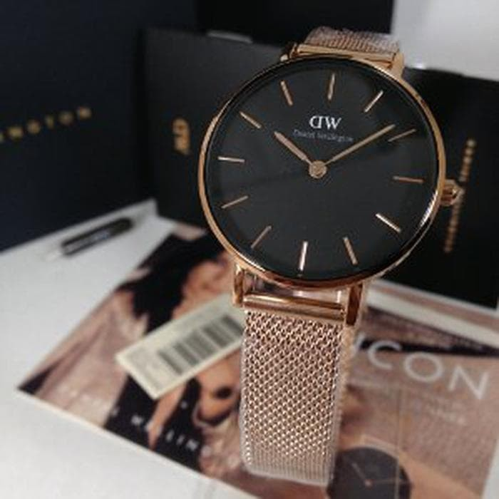 70b91113774c Jual Daniel Wellington DW Classic petite melrose 28mm black face ...
