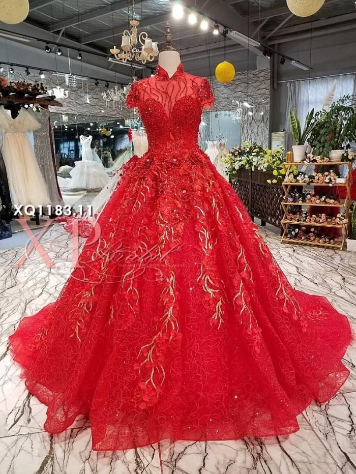 Jual Baju Pengantin Modern Warna Merah Kota Batam Xpbridal Tokopedia