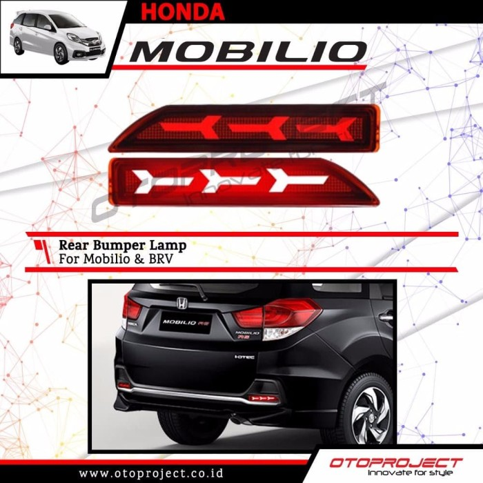 Jual Lampu Bumper Belakang Nyala Led Honda Mobilio Brv Adhikarya