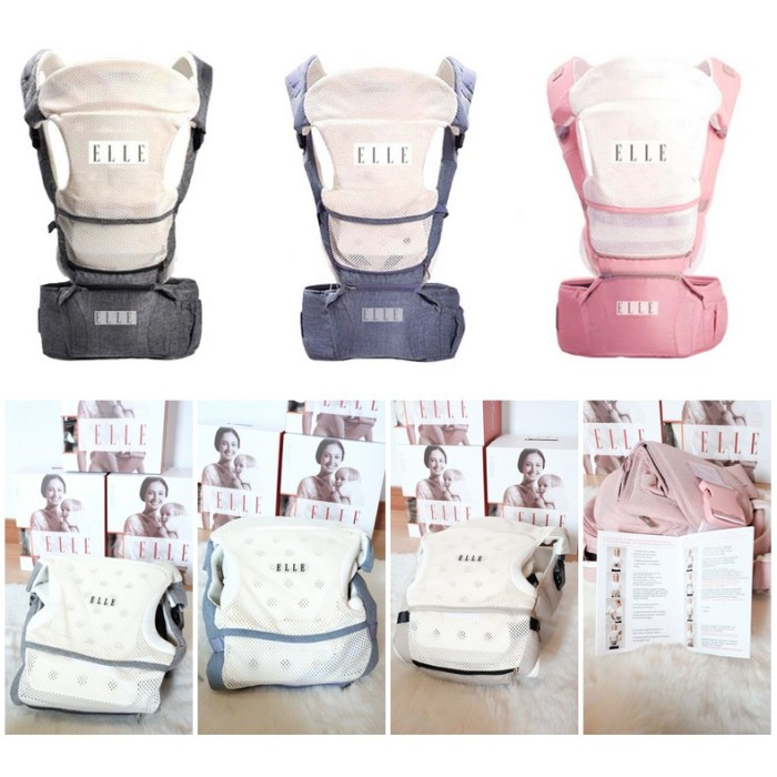 24c851f7a24 Jual Elle ULTIMATE 9 in 1 Hipseat Carrier - Blue   Grey   Khaki ...