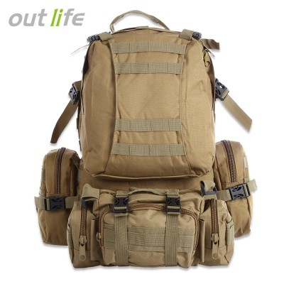 Outlife 50L Multifunction Molle Camouflage Backpack for Outdoor Sport Climbing H