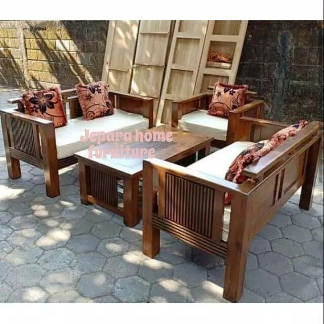 Jual Kursi Tamu Sofa Jati Minimalis Furniture Jepara Jepara Home