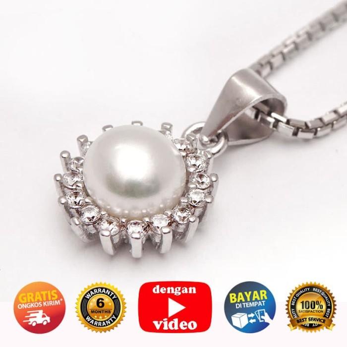 WGP 146 - Kalung Perak Emas Putih dan Mutiara ASLI - Garansi 6 bulan 9ed8f45bd0