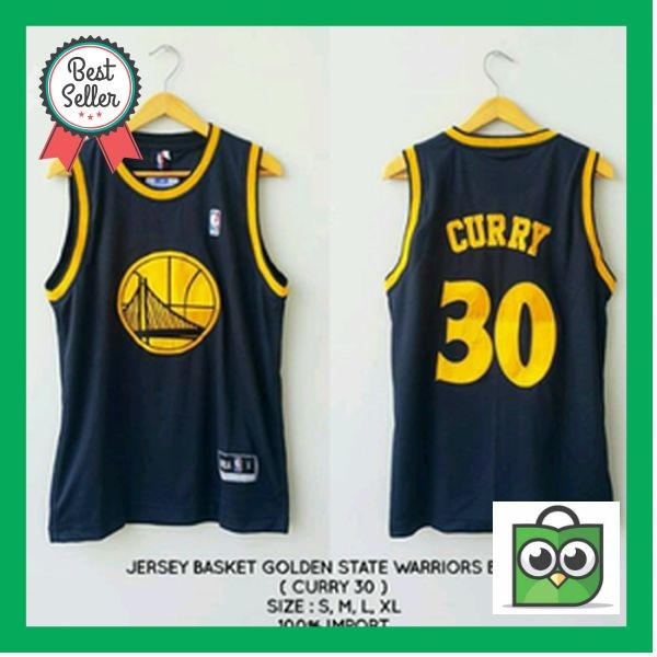 super popular 9d1b2 a4781 Jual PROMO Jersey Basket GOLDEN STATE WARRIORS Black - Kota Surabaya -  Cuan_Mall | Tokopedia
