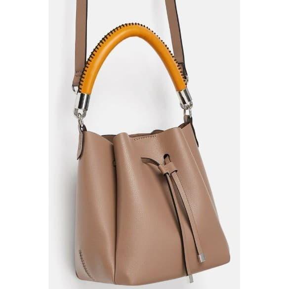 5fa844e40b Jual TAS ZARA MINI BUCKET BAG WITH TOPSTITCHED HANDLE TAS CANTIK ...